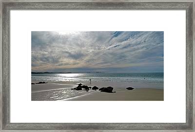 Evening Surf Framed Print by Jocelyn Kahawai