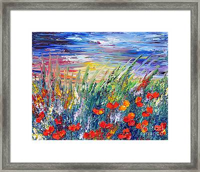 Evening Framed Print by Teresa Wegrzyn