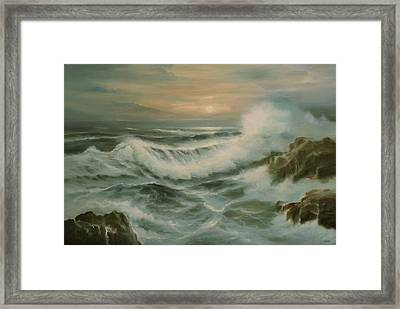 Evening Tide Framed Print by Richard Hinger