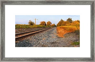 Evening Tracks Framed Print