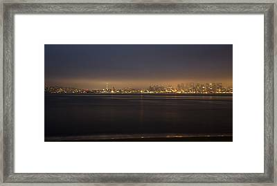 Evening View Framed Print by Akos Kozari