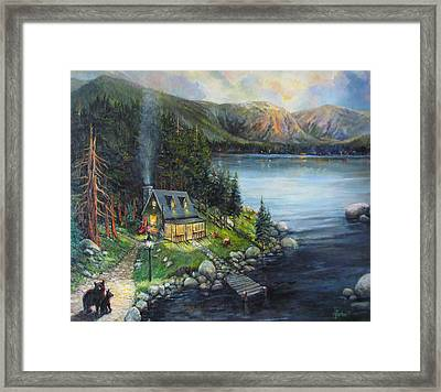 Evening Visitors Framed Print