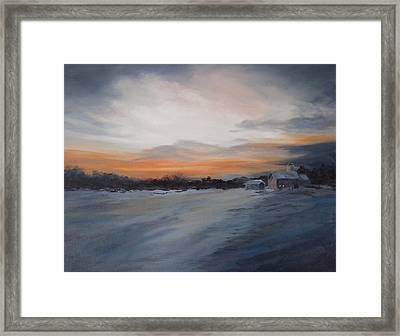 Evening Walk II Framed Print by Vikki Bouffard