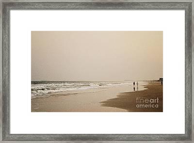 Evening Walk On Wrightsville Beach Framed Print