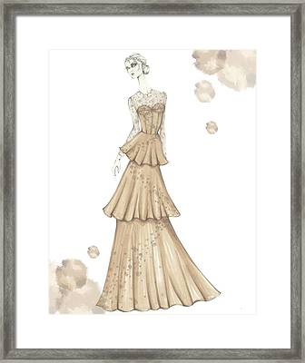 Evening Wear Four Framed Print by Samantha Burns