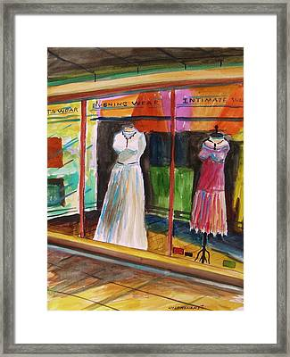 Evening Wear Framed Print by John Williams