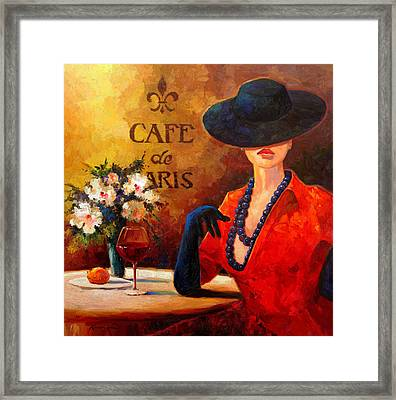 Evening Wine Framed Print by Kanayo Ede