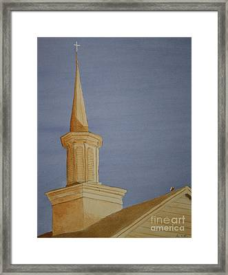 Framed Print featuring the painting Evening Worship by Stacy C Bottoms