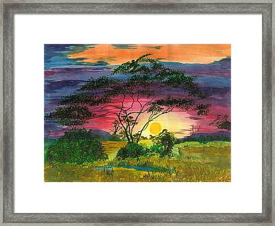 Evenings Bliss Framed Print by Beverly Marshall