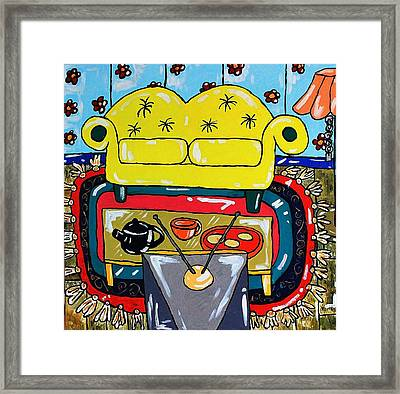 Evenings Entertainment  Framed Print