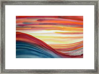 Evening's Last Light Framed Print