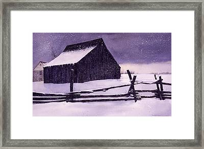 Evening's Quiet Framed Print by Tom Wooldridge