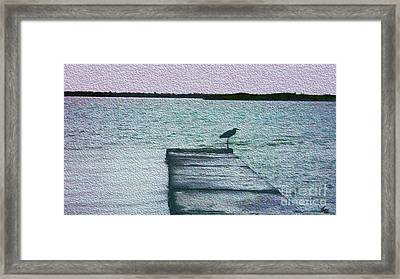 Framed Print featuring the photograph Eveningtide-painting by Megan Dirsa-DuBois