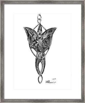 Evenstar Necklace 2010 Framed Print by Kayleigh Semeniuk