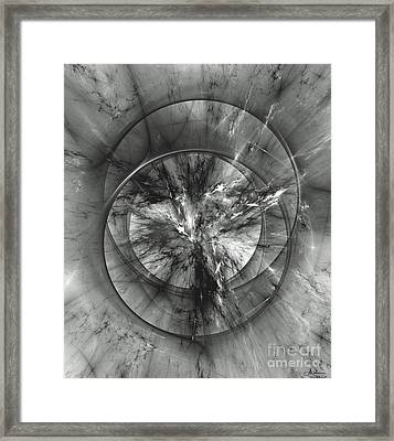 Framed Print featuring the digital art Event Horizon by Arlene Sundby