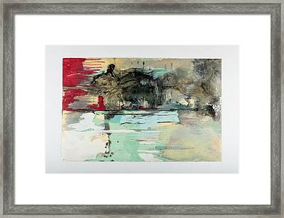 The Storm Behind The Calm Framed Print by Marie Tosto