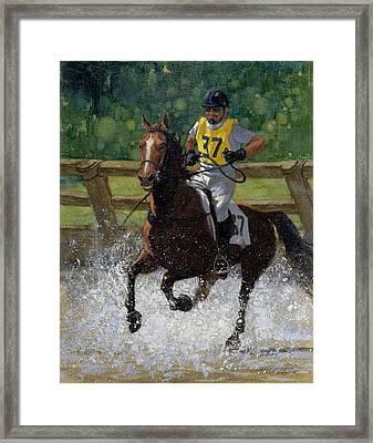Eventing Horse Framed Print