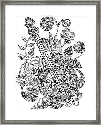 Ever Banjo Framed Print by Valentina Harper