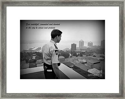 Ever Watchful Framed Print by John Malone