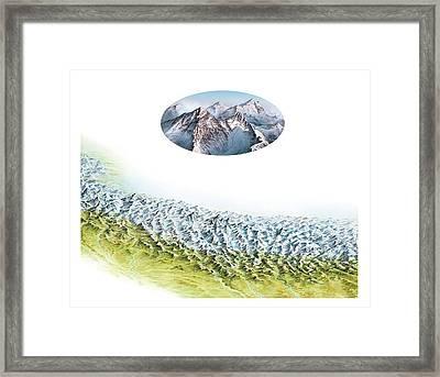 Everest Mountain Group Framed Print by Gary Hincks