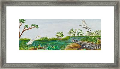 Everglades Critters Framed Print