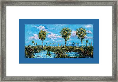 Everglades Sage Palms Framed Print