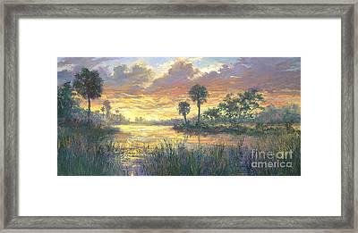 Everglades Sunrise Framed Print