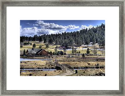 Evergreen Colorado Lakehouse Framed Print
