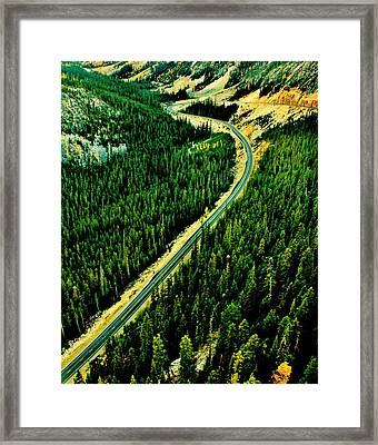 Evergreen Highway Framed Print by Benjamin Yeager