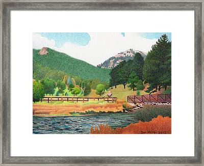 Evergreen Lake Spring Framed Print