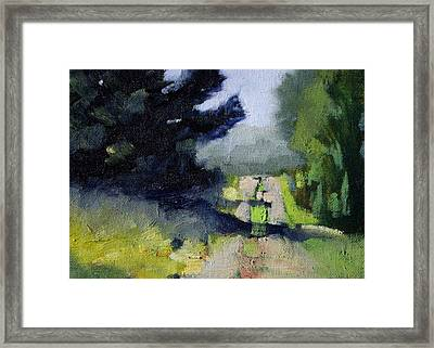 Evergreen Light Framed Print by Nancy Merkle