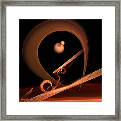 Everlasting Love Equilibrist For Woman Acrobat. 2013 80/80 Cm.  Framed Print by Tautvydas Davainis
