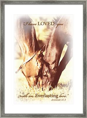 Everlasting Love Framed Print by Lincoln Rogers