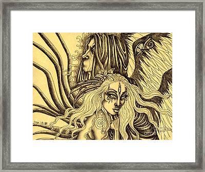 Evermore Sketch Framed Print by Coriander  Shea