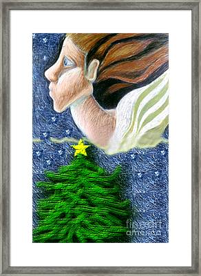 Everseeing Christmas Angel Framed Print by Genevieve Esson