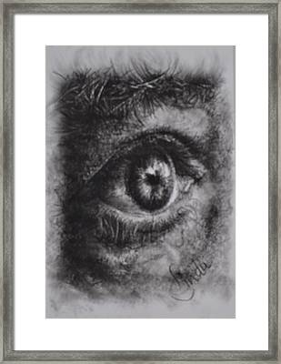 Every Eye Tells Its Own Story Framed Print