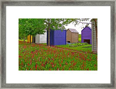 Every Garden Needs A Shed And Lawn In Les Jardins De Metis/reford Gardens-qc Framed Print by Ruth Hager