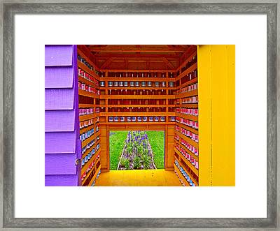 Every Garden Needs A Shed And Lawn Three In Reford Gardens Near Grand-metis-qc Framed Print by Ruth Hager