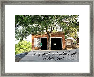 Every Good And Perfect Gift Framed Print