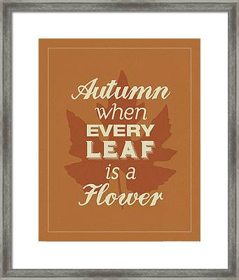 Every Leaf Framed Print by Katie Pertiet