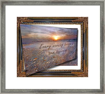 Every Morning Brings A New Beginning II Framed Print
