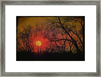 Every Night I Can Hear The Promise Of A Gentle Awakening Framed Print by Jan Amiss Photography