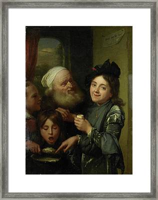 Every One His Fancy, Godfried Schalcken Framed Print