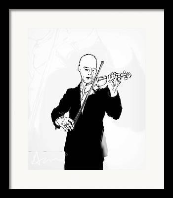 Black Tie Digital Art Framed Prints