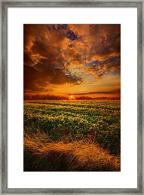Every Step Of The Way Framed Print