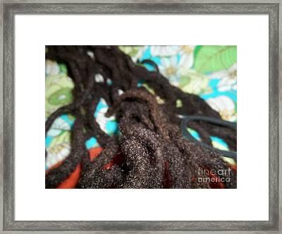 Every String Of My Hair Framed Print by Fania Simon
