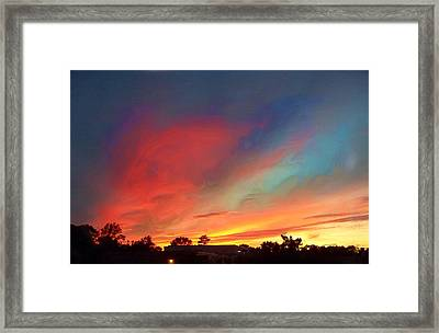 Every Sunset Is A Gift Framed Print by Rick Todaro