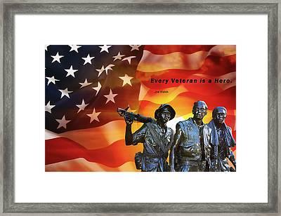 Every Veteran A Hero Framed Print