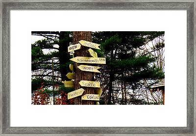 Every Which Way Framed Print by Stephen Melcher