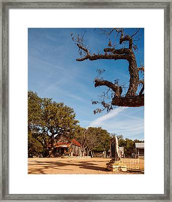 Everybody Is Somebody In Luckenbach - Texas Hill Country Framed Print by Silvio Ligutti